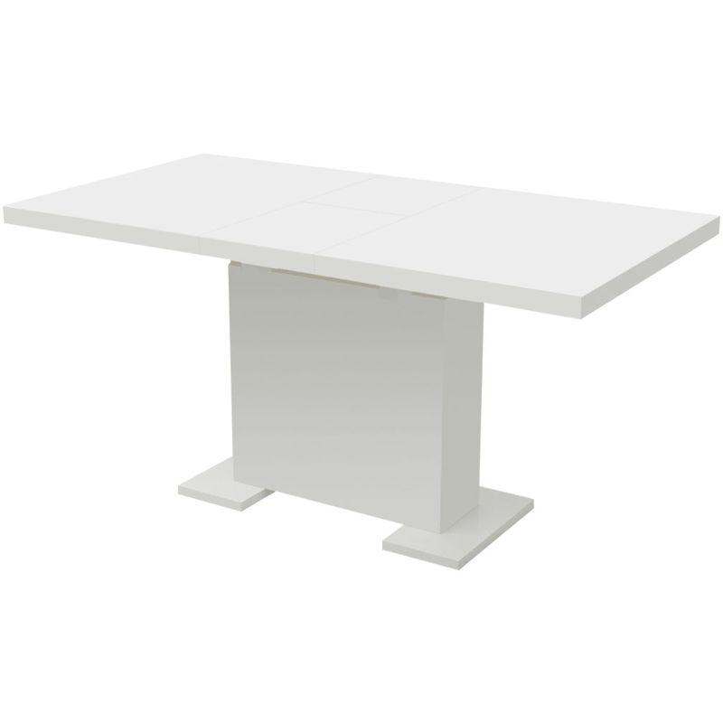 Ausziehbarer Esstisch Hochglanz Weiß VD09885 - Hommoo