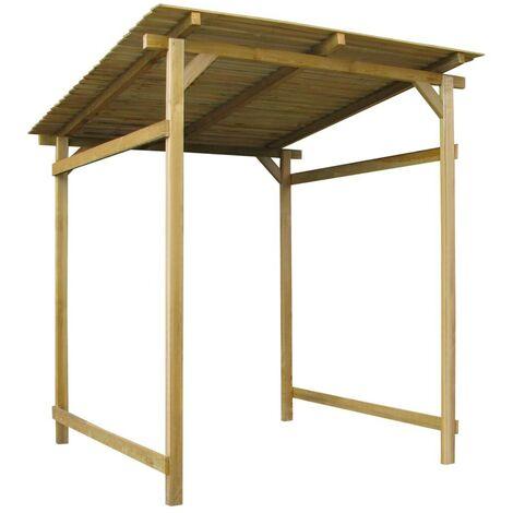 Hommoo Auvent de jardin Bois de pin imprégné FSC 170 x 200 x 200 cm HDV27409