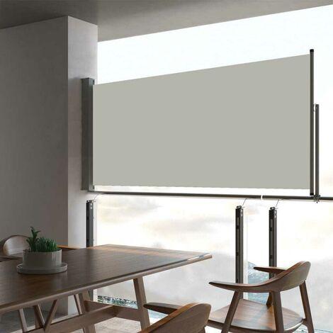 Hommoo Auvent latéral rétractable de patio 60x300 cm Crème HDV46399