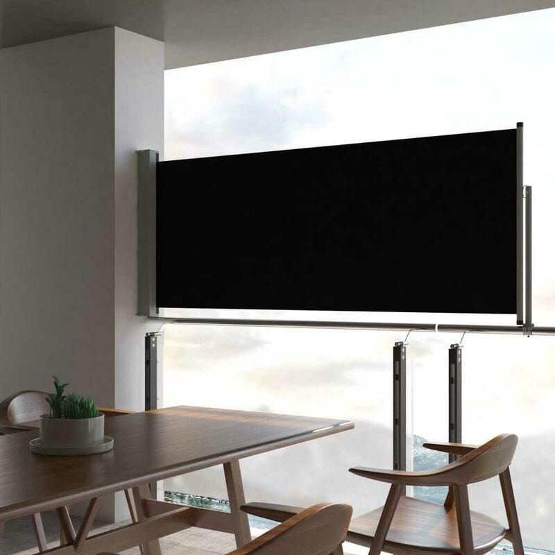 Auvent latéral rétractable de patio 100 x 300 cm Noir HDV29336 - Hommoo
