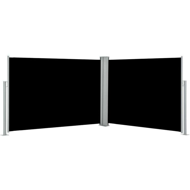 Auvent latéral rétractable Noir 100 x 1000 cm HDV46513 - Hommoo