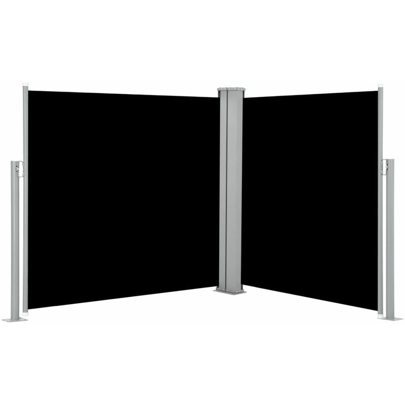 Auvent latéral rétractable Noir 100 x 600 cm HDV46487 - Hommoo