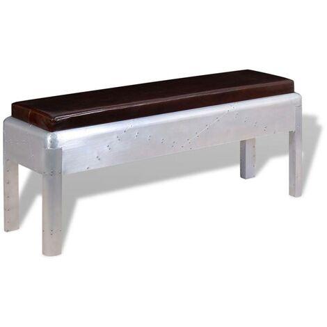 Hommoo Aviator Bench Genuine Leather 110x32x45 cm VD10398