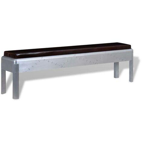 Hommoo Aviator Bench Genuine Leather 160x32x45 cm VD10399