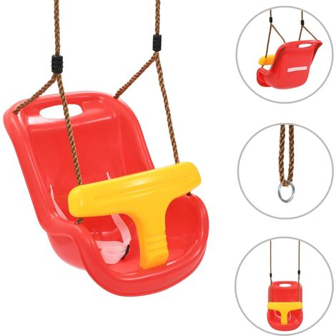 Hommoo Baby Swing with Safety Belt PP Red