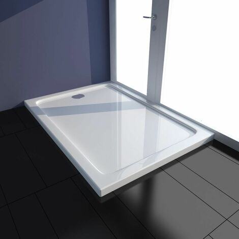 Hommoo Bac de douche rectangulaire ABS Blanc 70 x 100 cm HDV03977