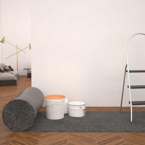 Hommoo Bâche de protection contre peinture 2 pcs 50 m 180 g/m2 Gris HDV04763