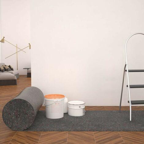 Hommoo Bâche de protection contre peinture 50 m 280 g/m2 Gris HDV04765