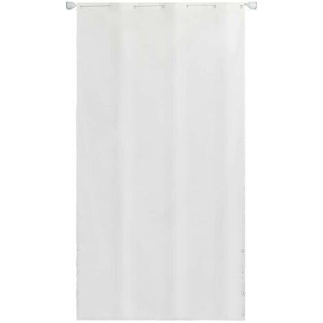 Hommoo Balcony Screen Oxford Fabric 140 x 240 cm White