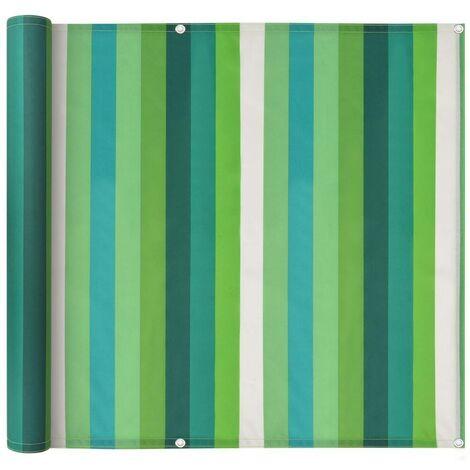 Hommoo Balcony Screen Oxford Fabric 75x600 cm Stripe Green