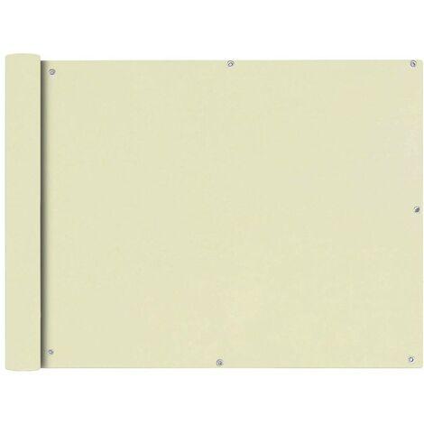 Hommoo Balcony Screen Oxford Fabric 90x400 cm Cream