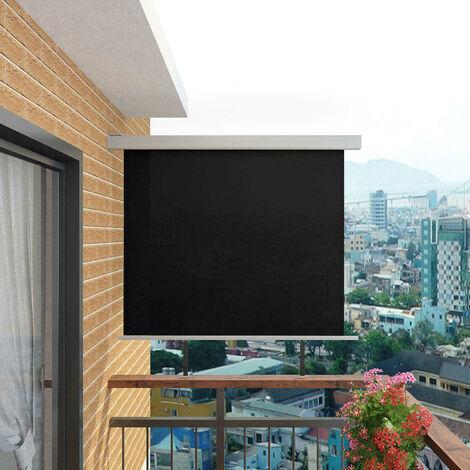 Hommoo Balcony Side Awning Multi-functional 150x200 cm Black VD05609