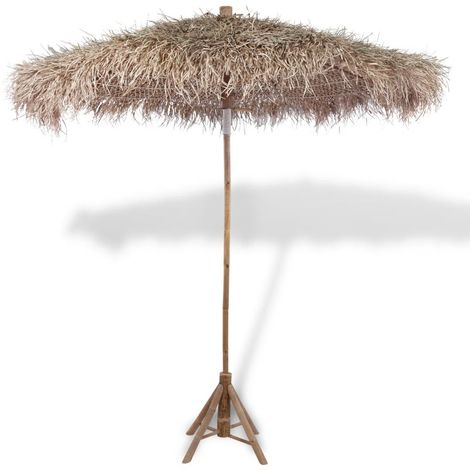 Hommoo Bamboo Parasol with Banana Leaf Roof 210 cm
