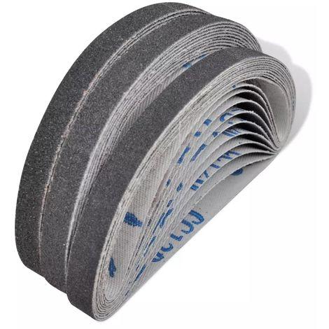 Hommoo Banda de lija 30 pzas 10 x 60/80/120 grano 10mm x 330 mm