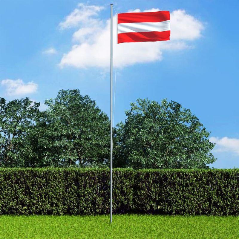 Hommoo Bandera de Austria y mástil de aluminio 6,2 m