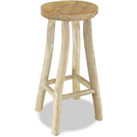 Hommoo Bar Stool Solid Teak Wood VD10638