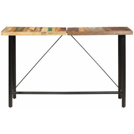 Hommoo Bar Table 180x70x107 cm Solid Reclaimed Wood QAH36886