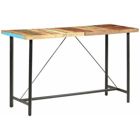 Hommoo Bar Table 180x70x107 cm Solid Reclaimed Wood VD36886