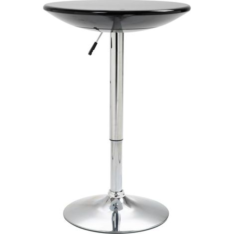 Hommoo Bar Table Black Ø60 cm ABS VD14590