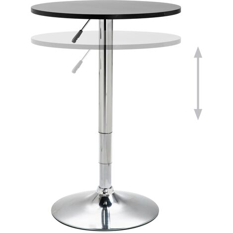 Hommoo Bar Table Black Ø60 cm MDF QAH14562