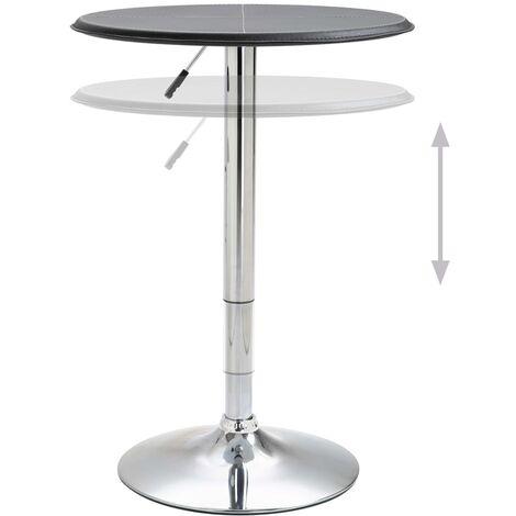 Hommoo Bar Table Black Ø60 cm MDF QAH14564