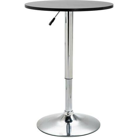 Hommoo Bar Table Black Ø60 cm MDF VD14562