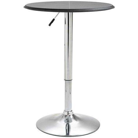 Hommoo Bar Table Black Ø60 cm MDF VD14564