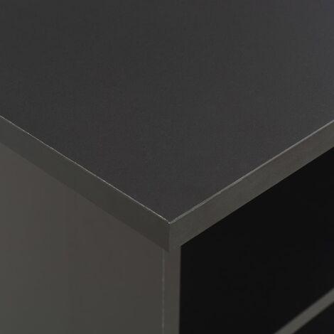 Hommoo Bar Table Black 60x60x110 cm QAH22357