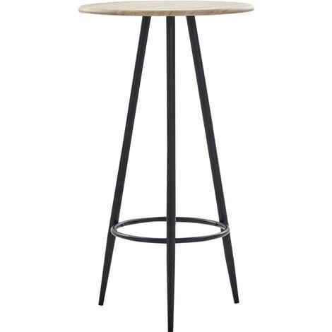 Hommoo Bar Table Oak 60x107.5 cm MDF VD23142