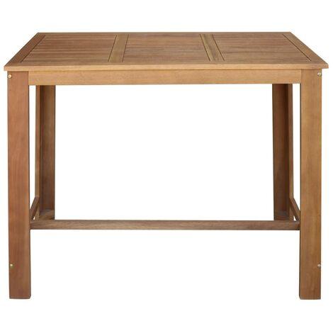 Hommoo Bar Table Solid Acacia Wood 120x60x105 cm QAH12589