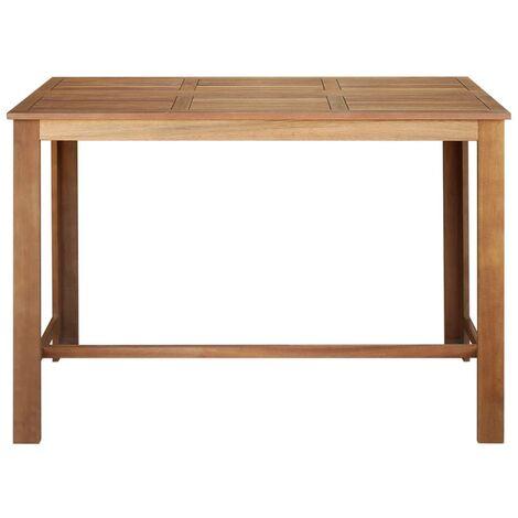 Hommoo Bar Table Solid Acacia Wood 150x70x105 cm QAH12590
