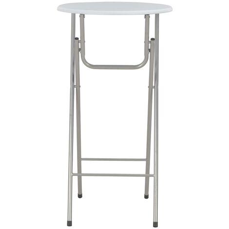 Hommoo Bar Table White 60x112 cm MDF QAH24927