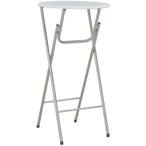 Hommoo Bar Table White 60x112 cm MDF VD24927