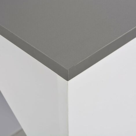 Hommoo Bar Table with Cabinet White 115x59x200 cm QAH22382