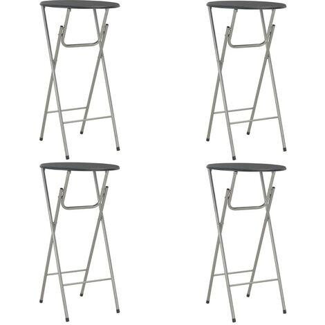 Hommoo Bar Tables 4 pcs Black 60x112 cm MDF