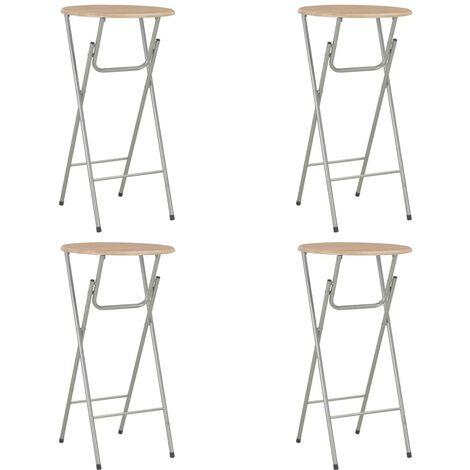 Hommoo Bar Tables 4 pcs Oak 60x112 cm MDF