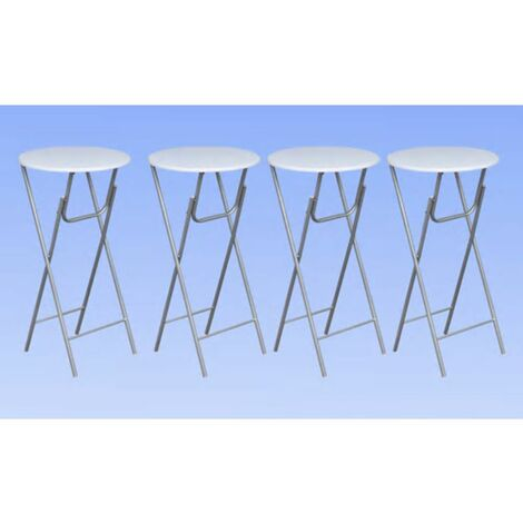 Hommoo Bar Tables 4 pcs with MDF Tabletop White QAH30952