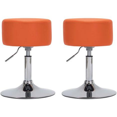 Hommoo Barhocker 2 Stk. Orange Kunstleder VD14531