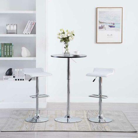 Hommoo Barhocker 2 Stk. Weiß Kunstleder VD12797