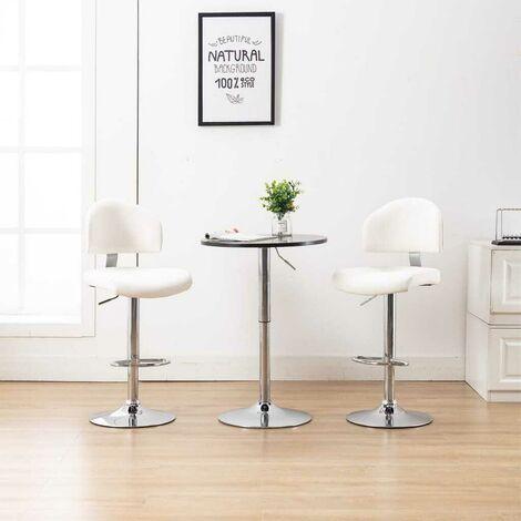 Hommoo Barhocker Weiß Kunstleder VD35822