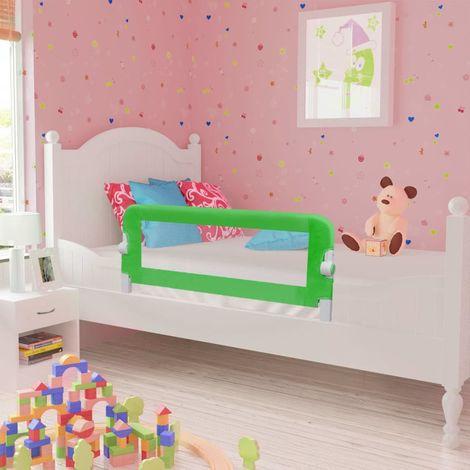 Hommoo Barra de seguridad para cama de niño 2 unidades verde 102x42 cm