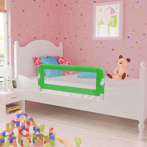 Hommoo Barrière de lit pour enfants 102 x 42 cm Vert