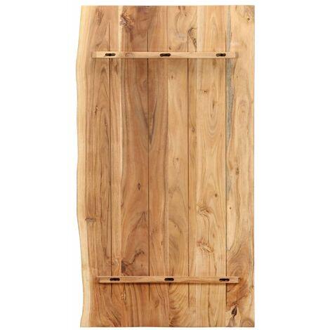 Hommoo Bathroom Vanity Top Solid Acacia Wood 100x55x2.5 cm QAH36730