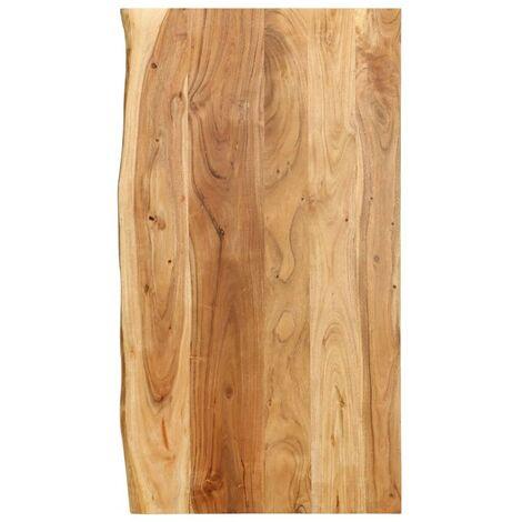 Hommoo Bathroom Vanity Top Solid Acacia Wood 100x55x2.5 cm VD36730