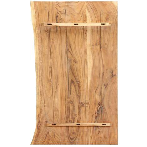 Hommoo Bathroom Vanity Top Solid Acacia Wood 100x55x3.8 cm QAH36731