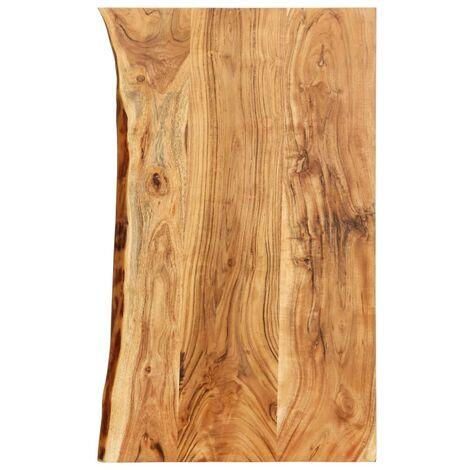 Hommoo Bathroom Vanity Top Solid Acacia Wood 100x55x3.8 cm VD36731
