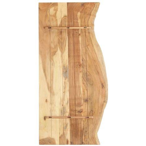Hommoo Bathroom Vanity Top Solid Acacia Wood 140x55x2.5 cm QAH36734