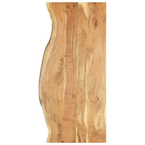 Hommoo Bathroom Vanity Top Solid Acacia Wood 140x55x2.5 cm VD36734