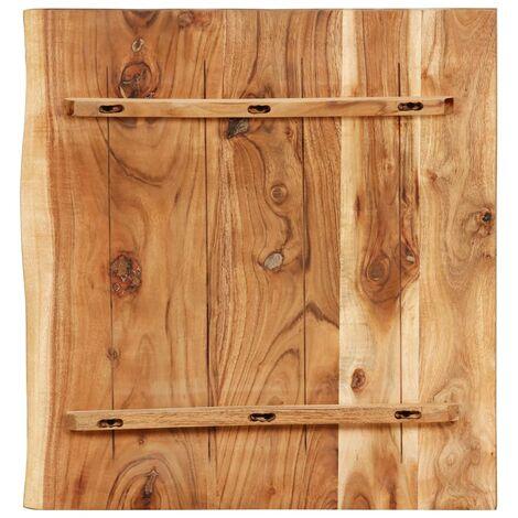 Hommoo Bathroom Vanity Top Solid Acacia Wood 60x55x3.8 cm QAH36727