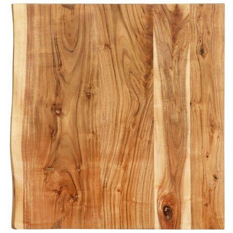 Hommoo Bathroom Vanity Top Solid Acacia Wood 60x55x3.8 cm VD36727